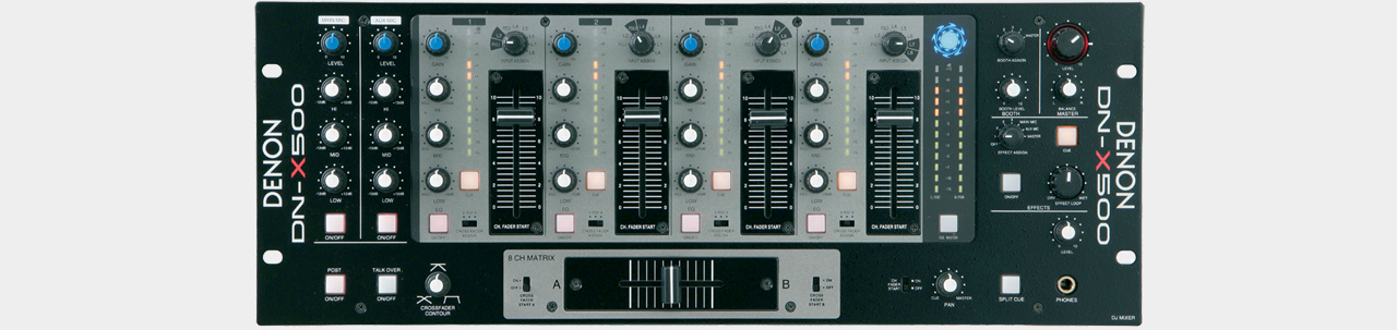 "Denon DN-X500 19"" Rack Mountable Mixer"