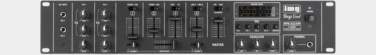 Stageline MPX-622 Stereo-DJ Mixer