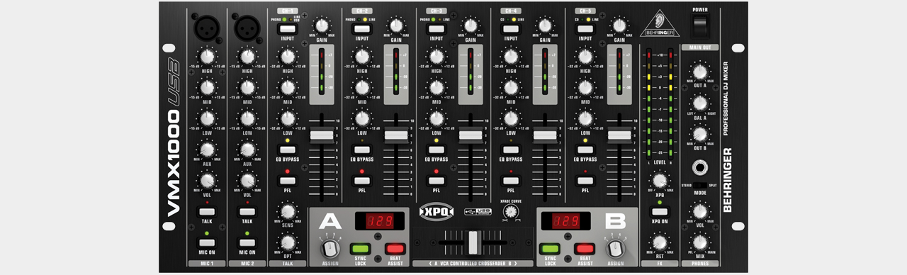 Behringer VMX1000USB / 7 Channel DJ Mixer with USB
