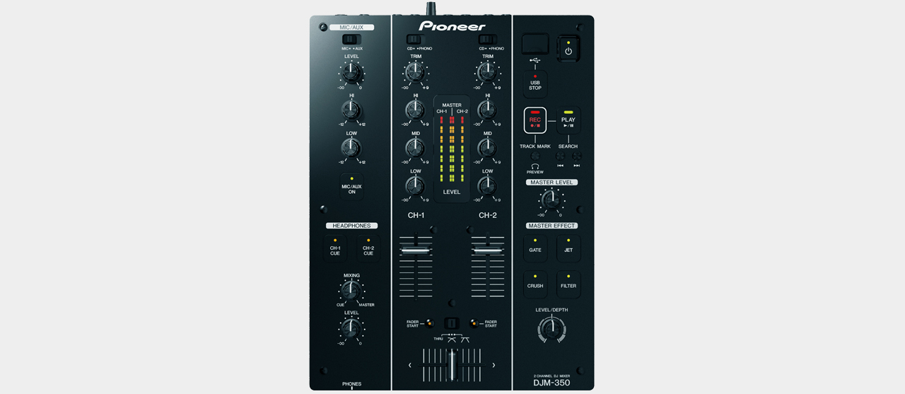 Pioneer DJM-350 2-Channel DJ Mixer with USB