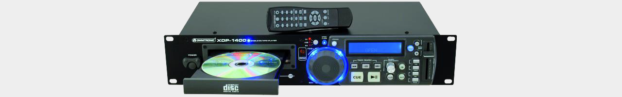 Omnitronic XDP-1400 CD/USB/SD player w.IR remote