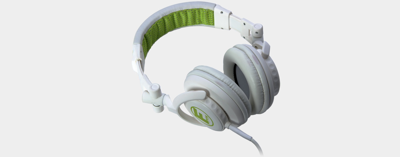 Fame - hD-1000 DJ Headphone White-Lime