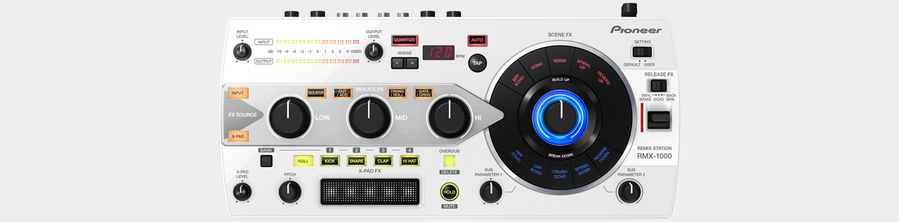 Pioneer RMX-1000-W Remix Station, White
