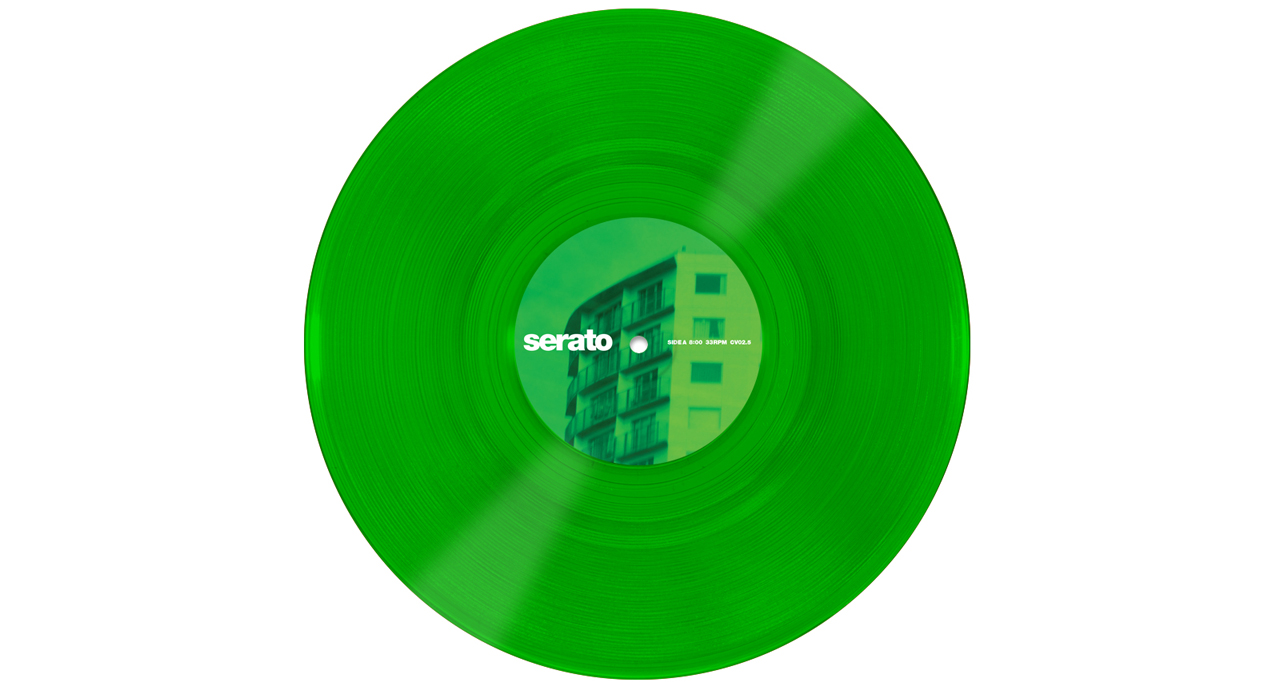 "Serato 10"" Control Vinyls Green Glass"