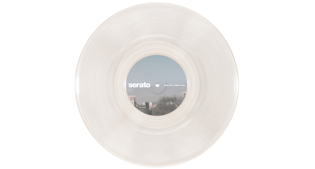 "Serato 10"" Control Vinyls Clear Glass"