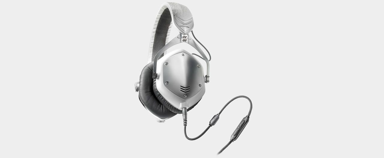 V-Moda - Crossfade M-100 Headphones, white-silver