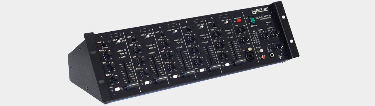 Ecler - Compact 5 Universal Mixer 5-Channel 19""