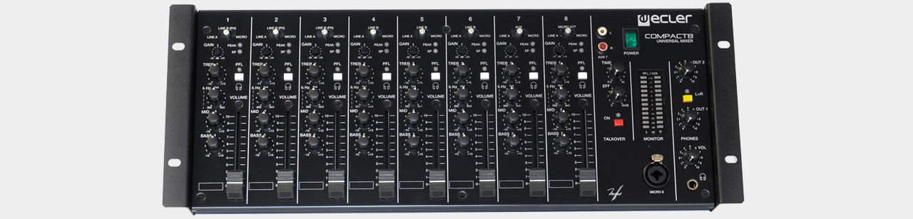 Ecler - Compact 8 Universal Mixer 8-Channel 19""