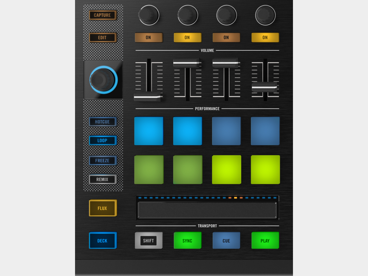 Traktor Kontrol S8 / Performance-Deck-Sektion