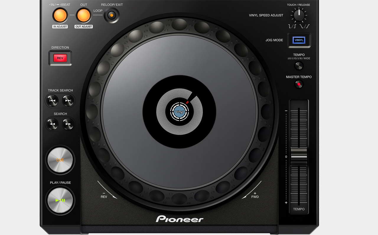 Pioneer XDJ-1000 / Deck-Sektion