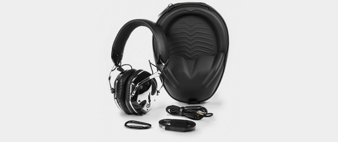 V-Moda Crossfade Wireless Kopfhörer, phantom chrome