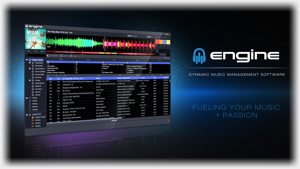 Denon MCX8000 / integrierte Engine Software