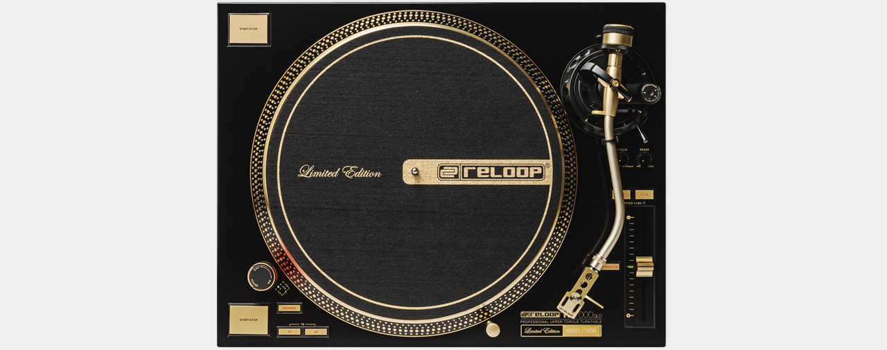 Reloop RP-7000 GLD Limited Edition Gold