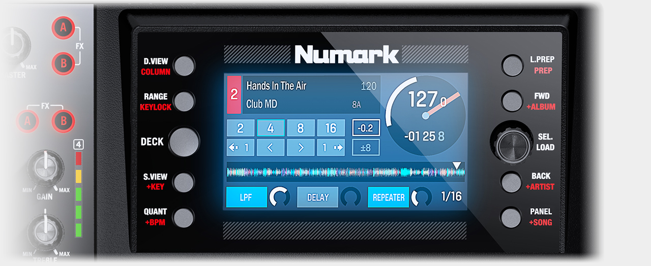 Numark NVII - Real-Time Full-Color Displays