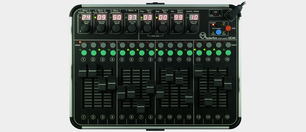Faderfox UC44 - The Fader Box