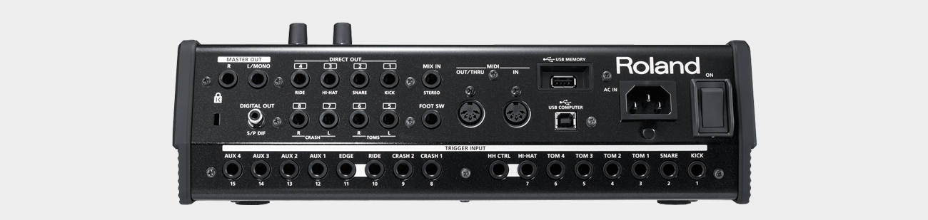 Roland TD-30 Soundmodul Rear
