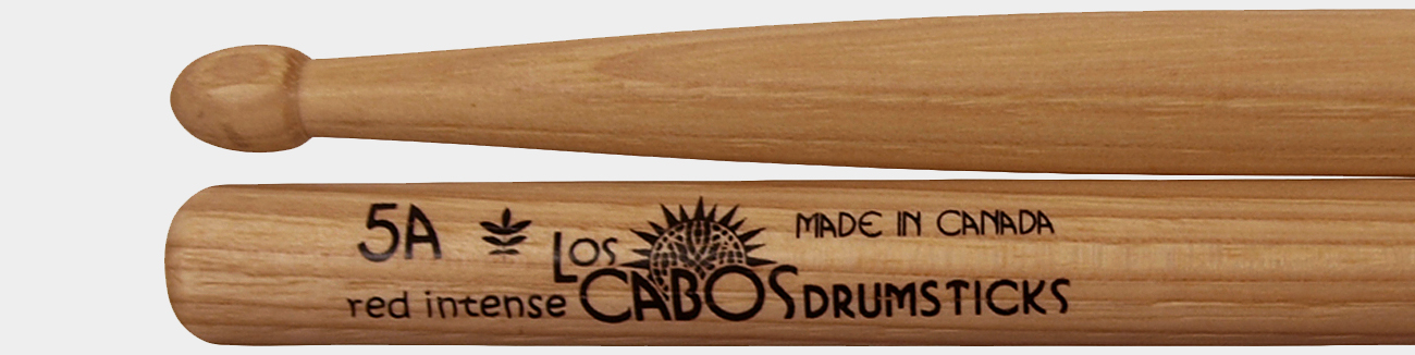Los Cabos 5A Red Hickory Intense Drum Sticks