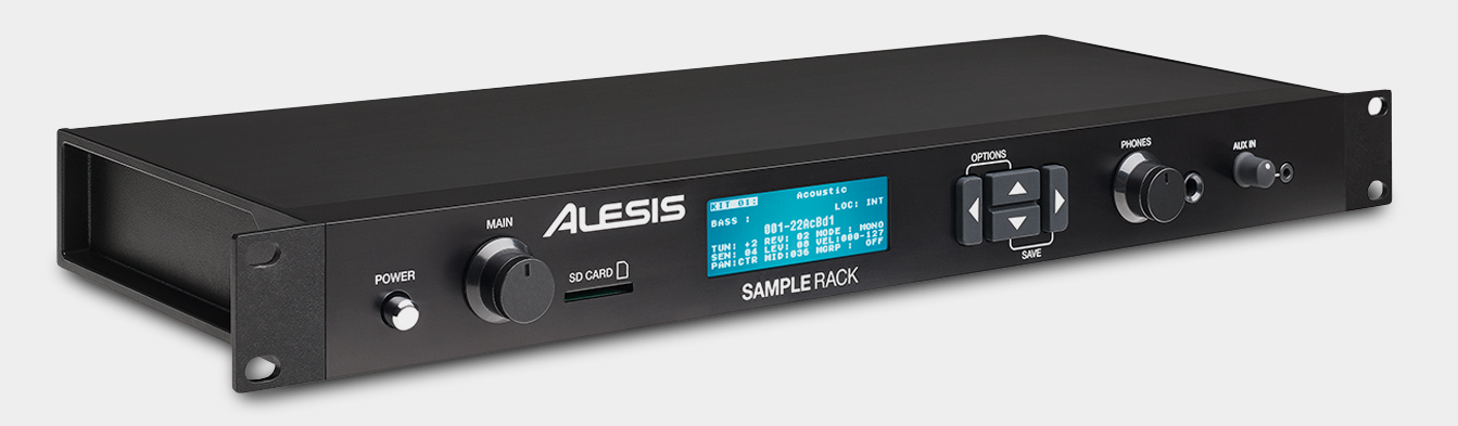 Alesis Sample Rack Angled