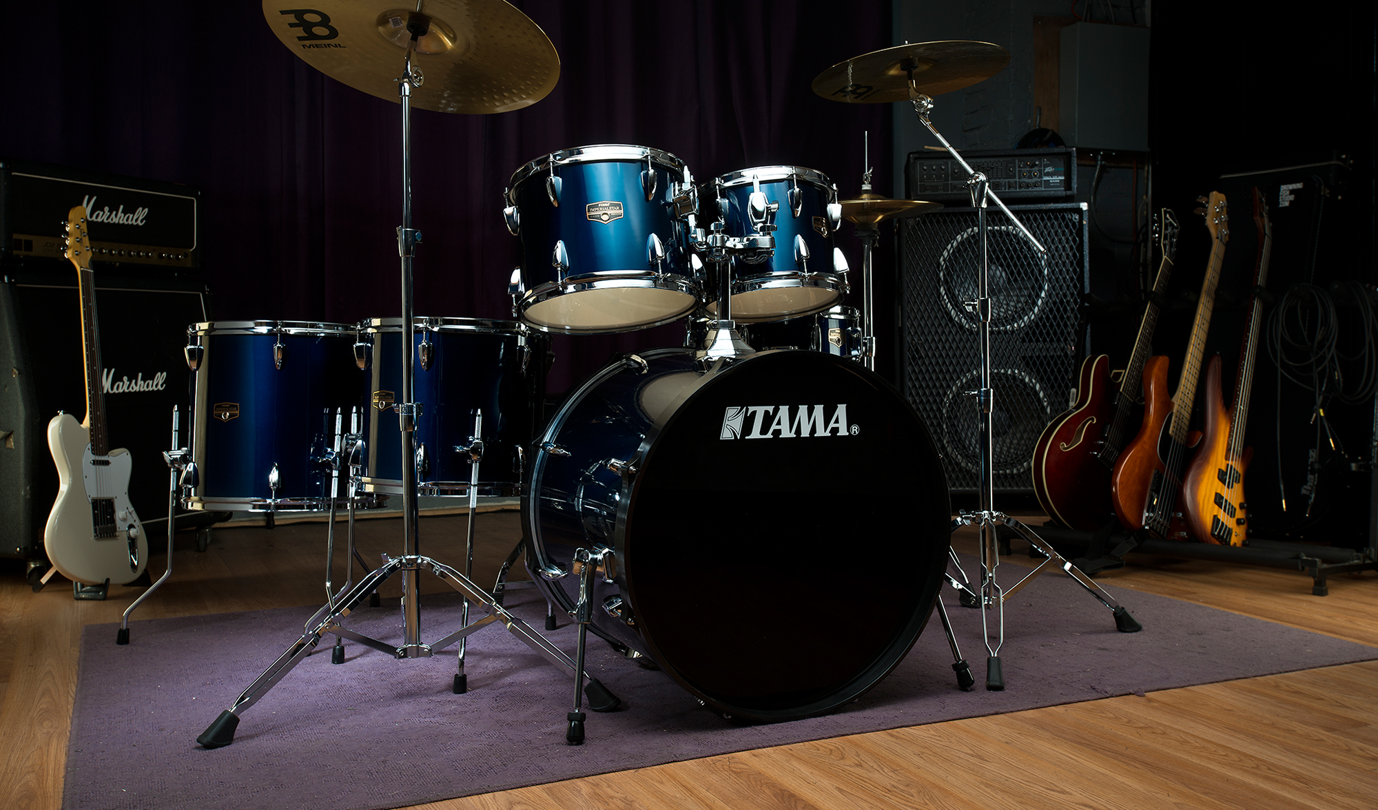 Tama Imperialstar IP52BHH6 Limited, Hairline Black #HBK, Black HW