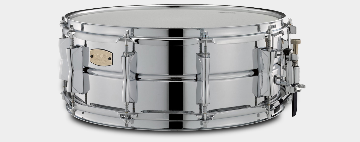 Yamaha sss1455 stage custom snare 14 x5 5 steel for Yamaha stage custom steel snare drum 14x6 5