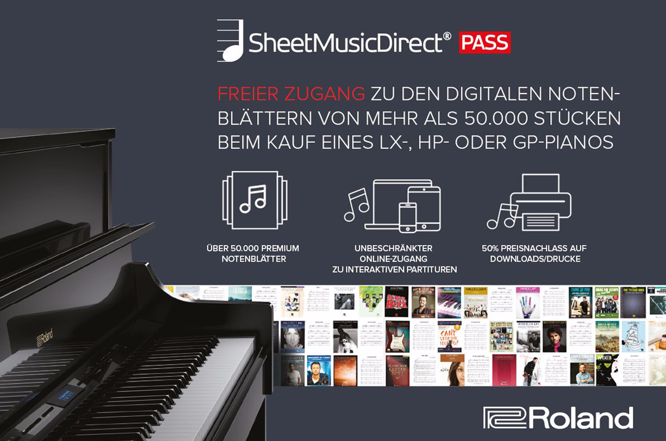 Roland Sheet Music Diret PASS