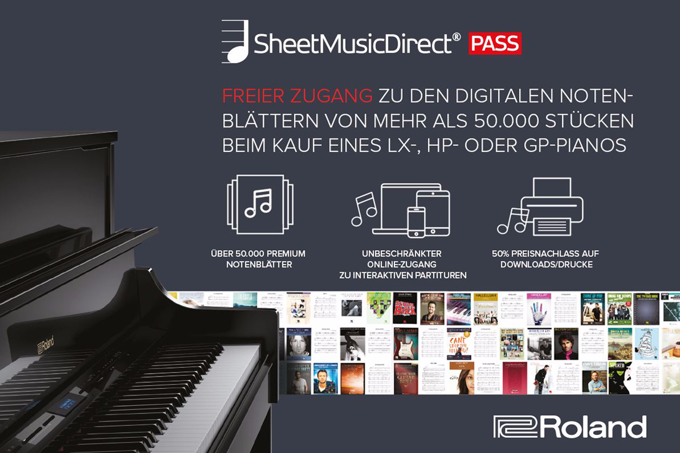 Roland Sheet Music Direct PASS