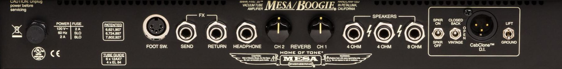 MESA BOOGIE Mark Five:35 Head Rear