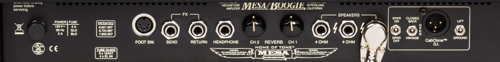 MESA BOOGIE Mark Five:35 Rear Panel