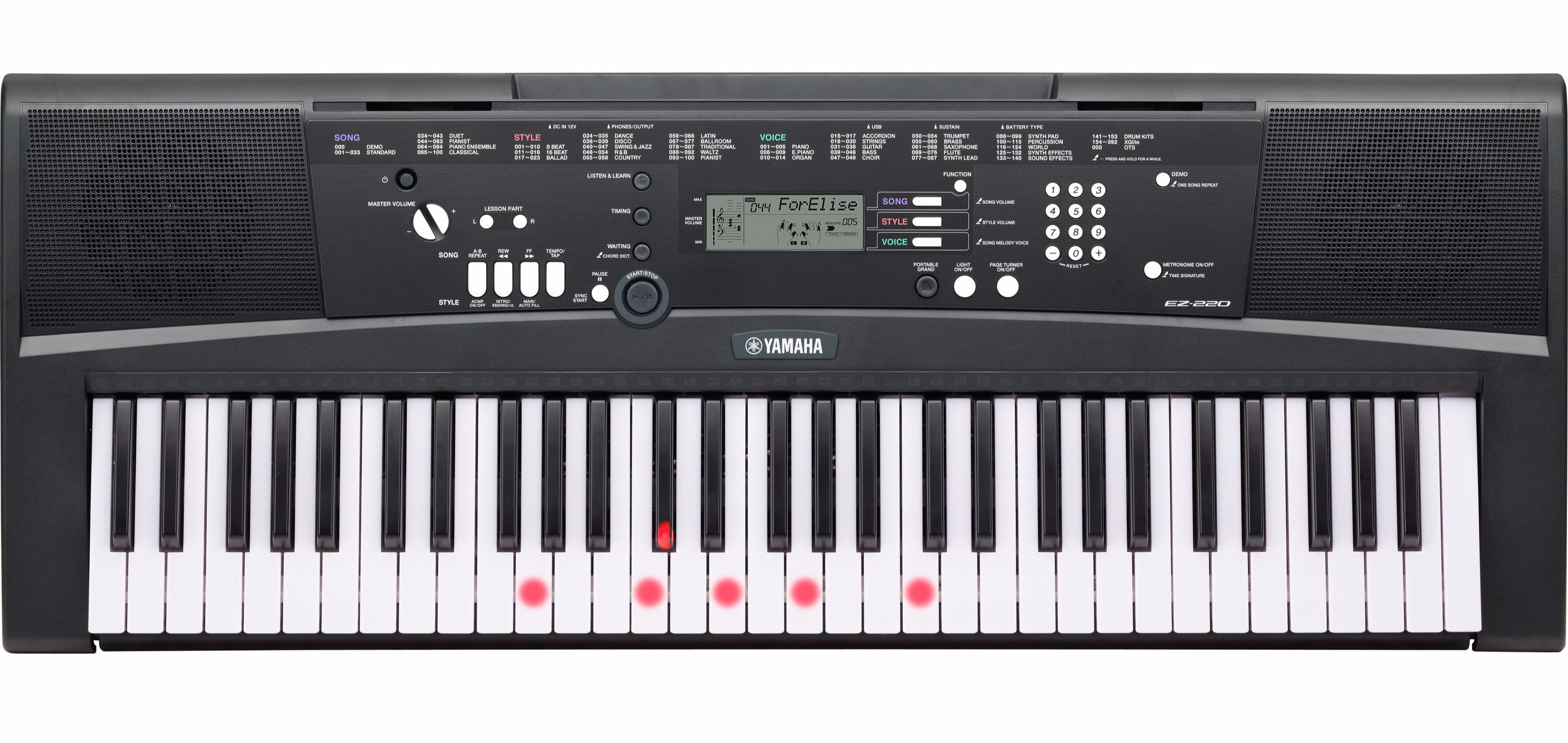 39 yamaha ez 220 standard set inkl st nder kopfh rer noten for Yamaha keyboard store