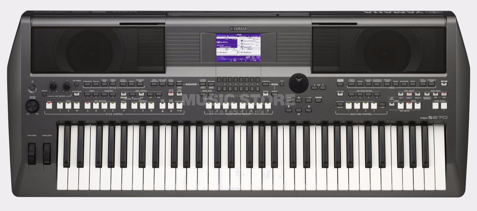 Yamaha psr s670 keyboard dunkelgrau for Yamaha psr s