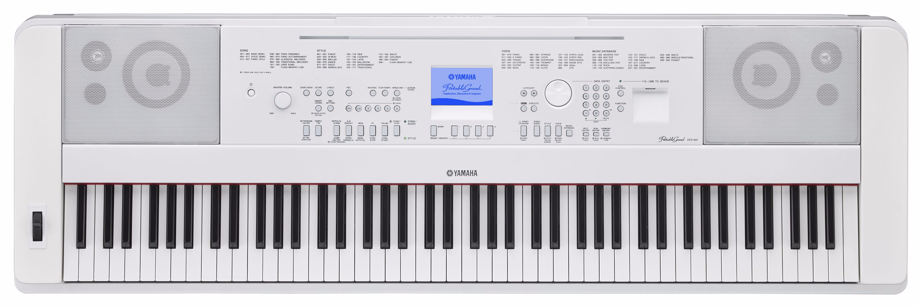 Yamaha DGX-660 WH Digital Piano
