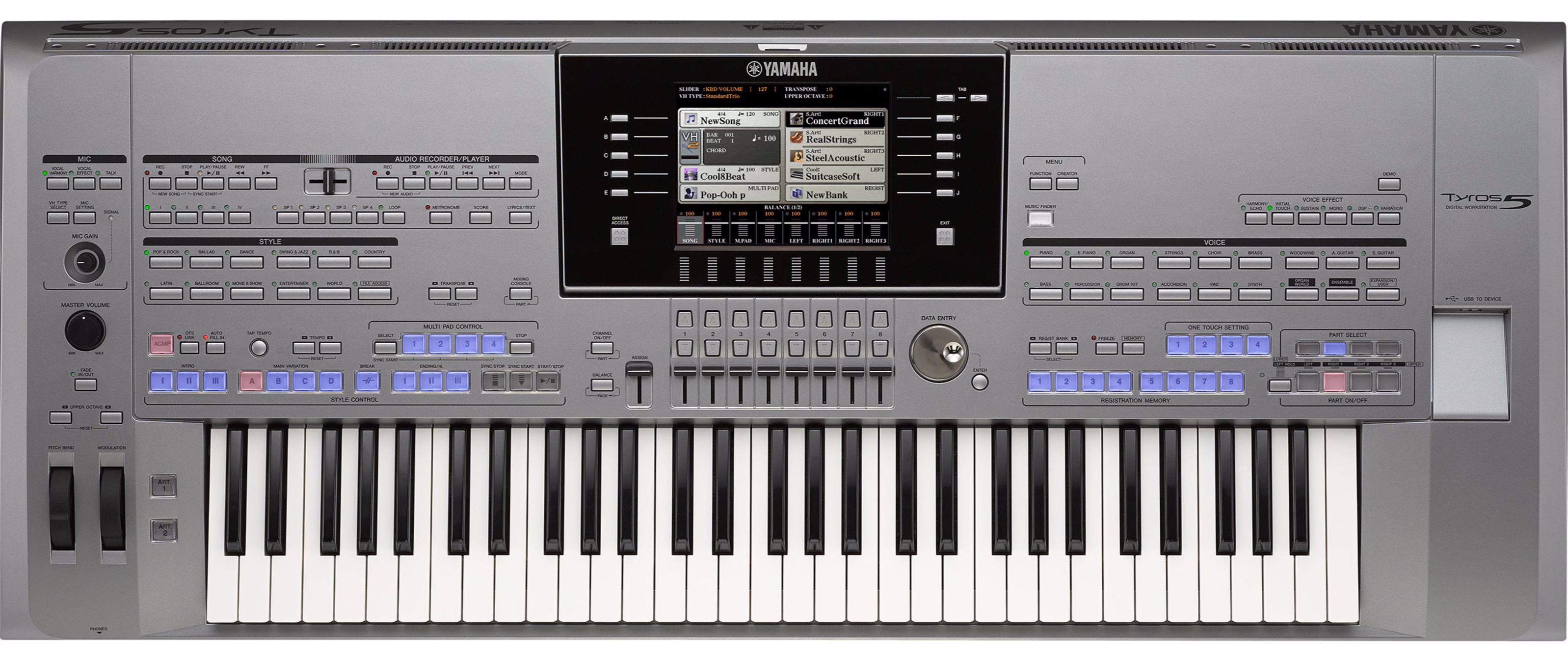 yamaha tyros 5 61 entertainer gold