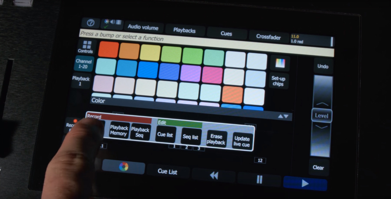 ETC Color Source Touch Screen