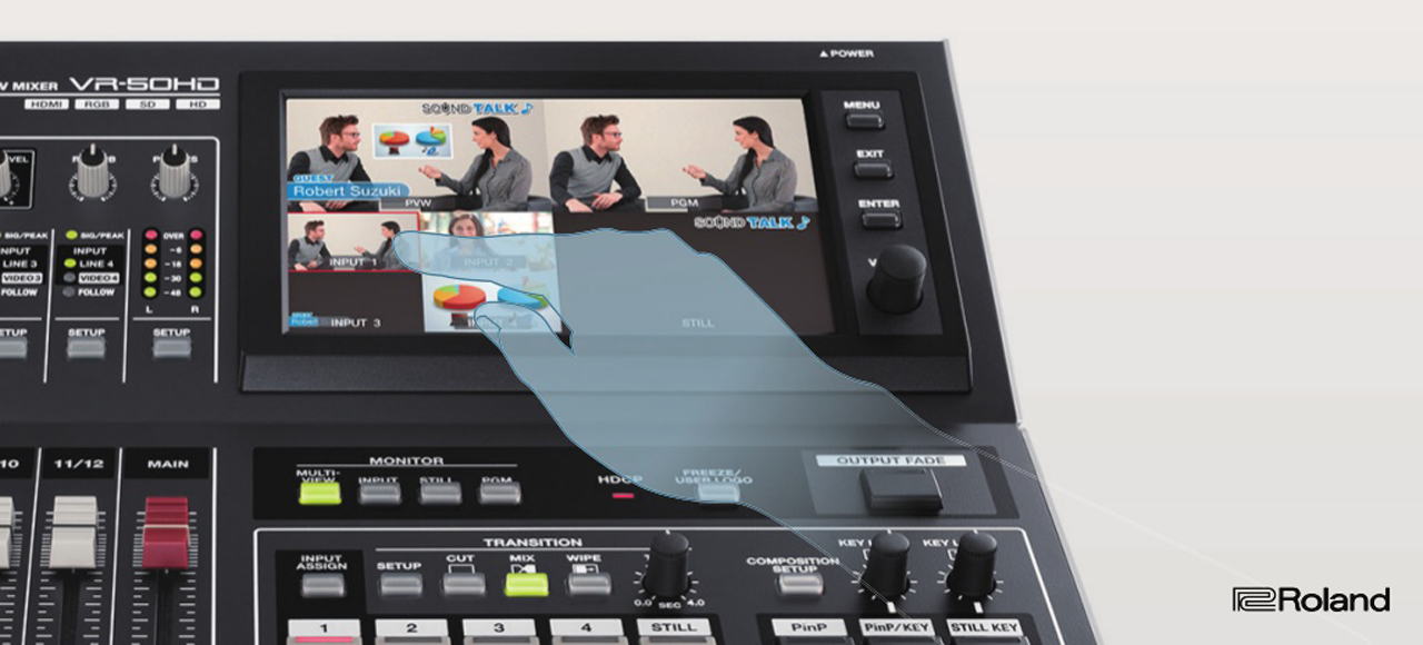 Roland VR-50HD Touch Screen