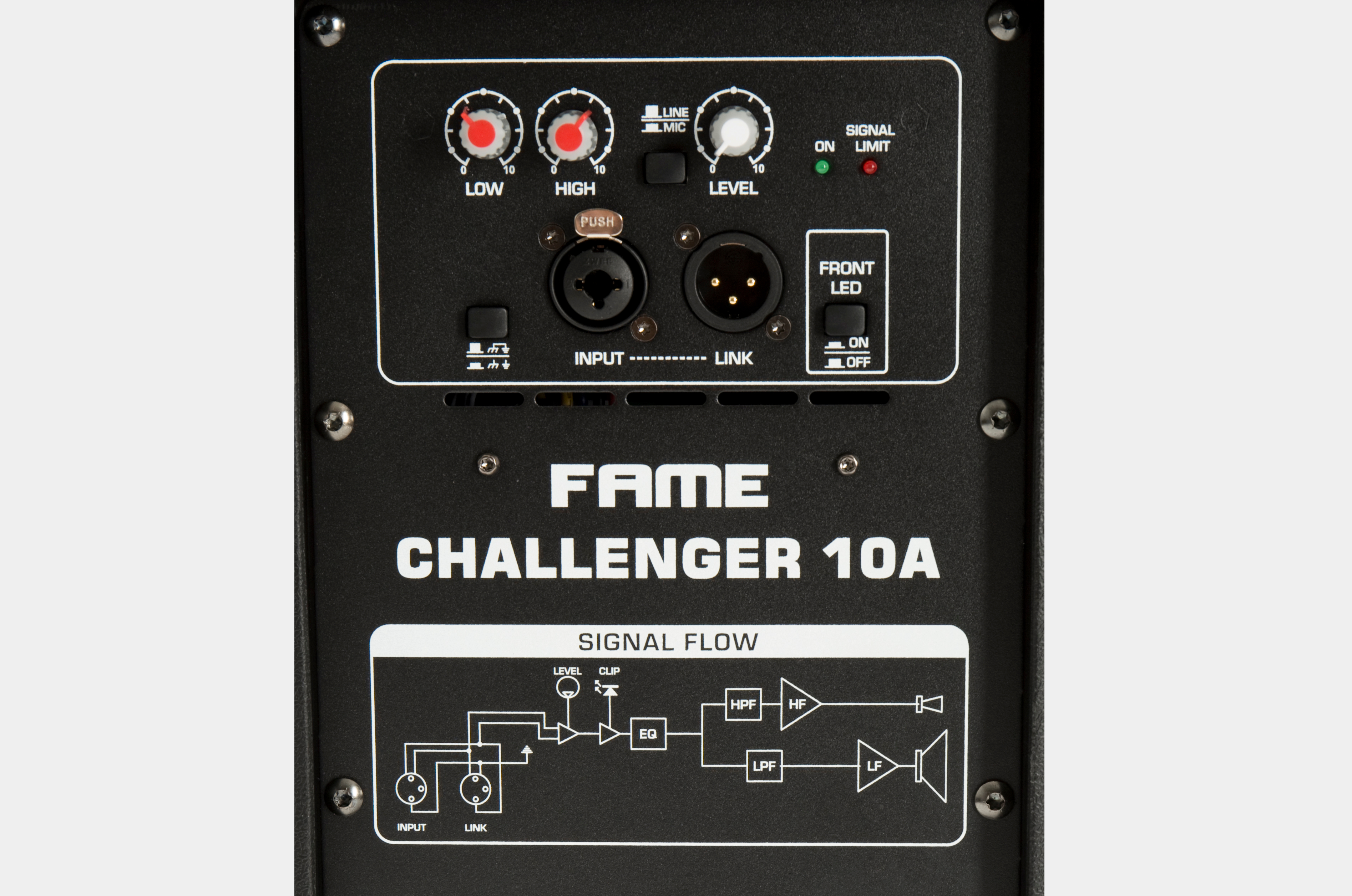 fame challenger 10A rear panel