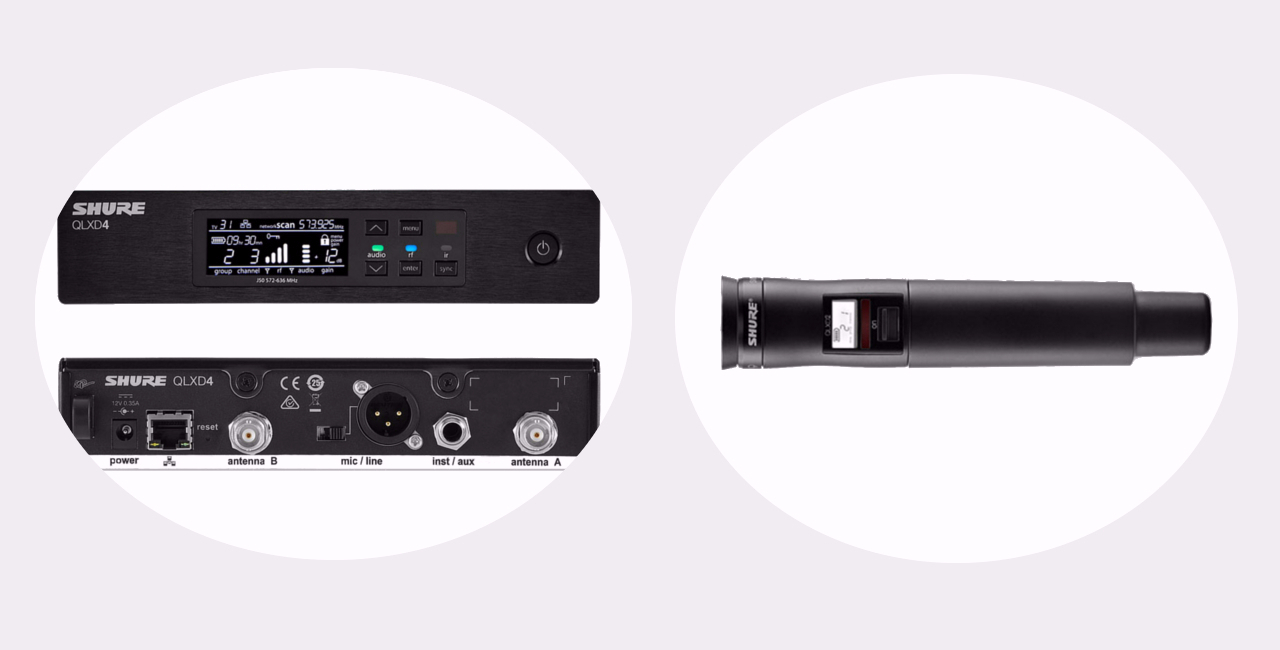 A perfect combination: the optional receiver (left)