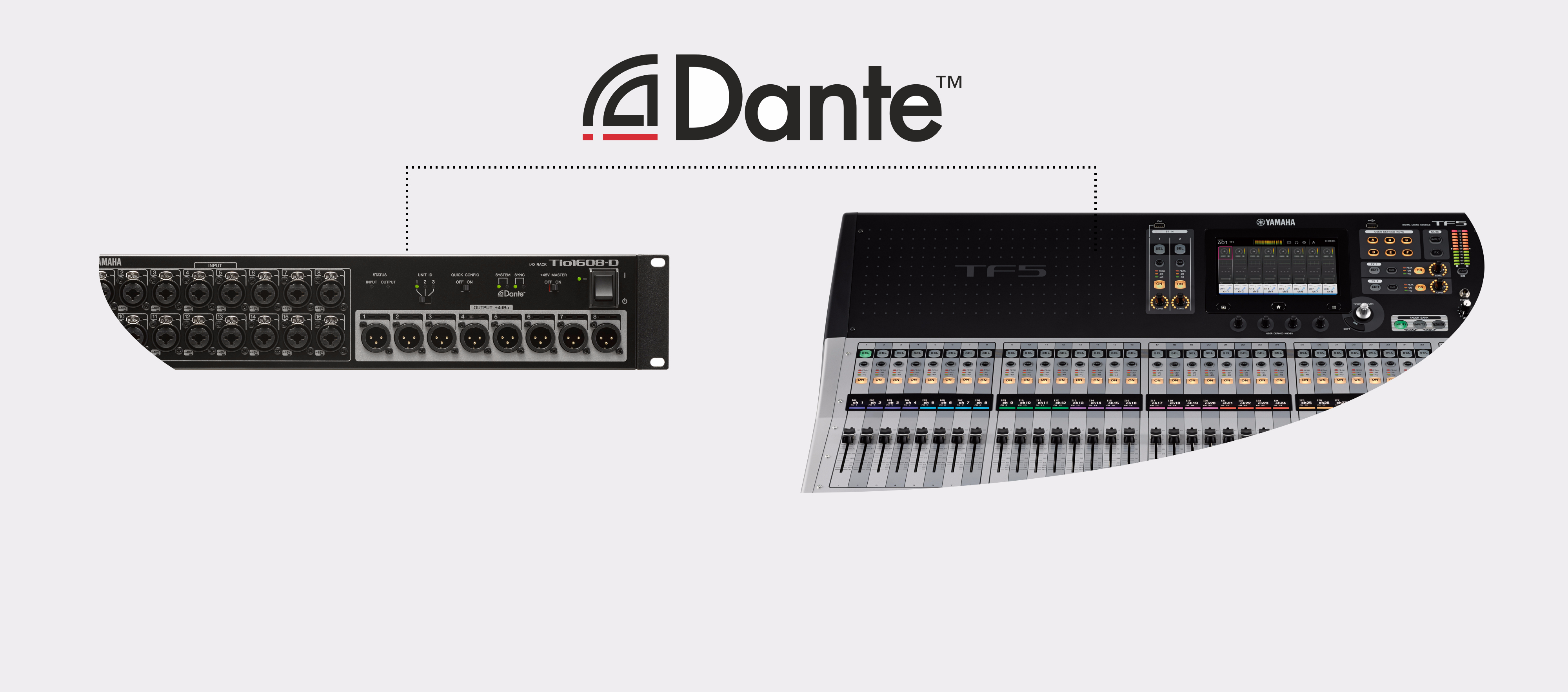 Dante allows everyone to create an effective setup with or without IT-network knowledge.