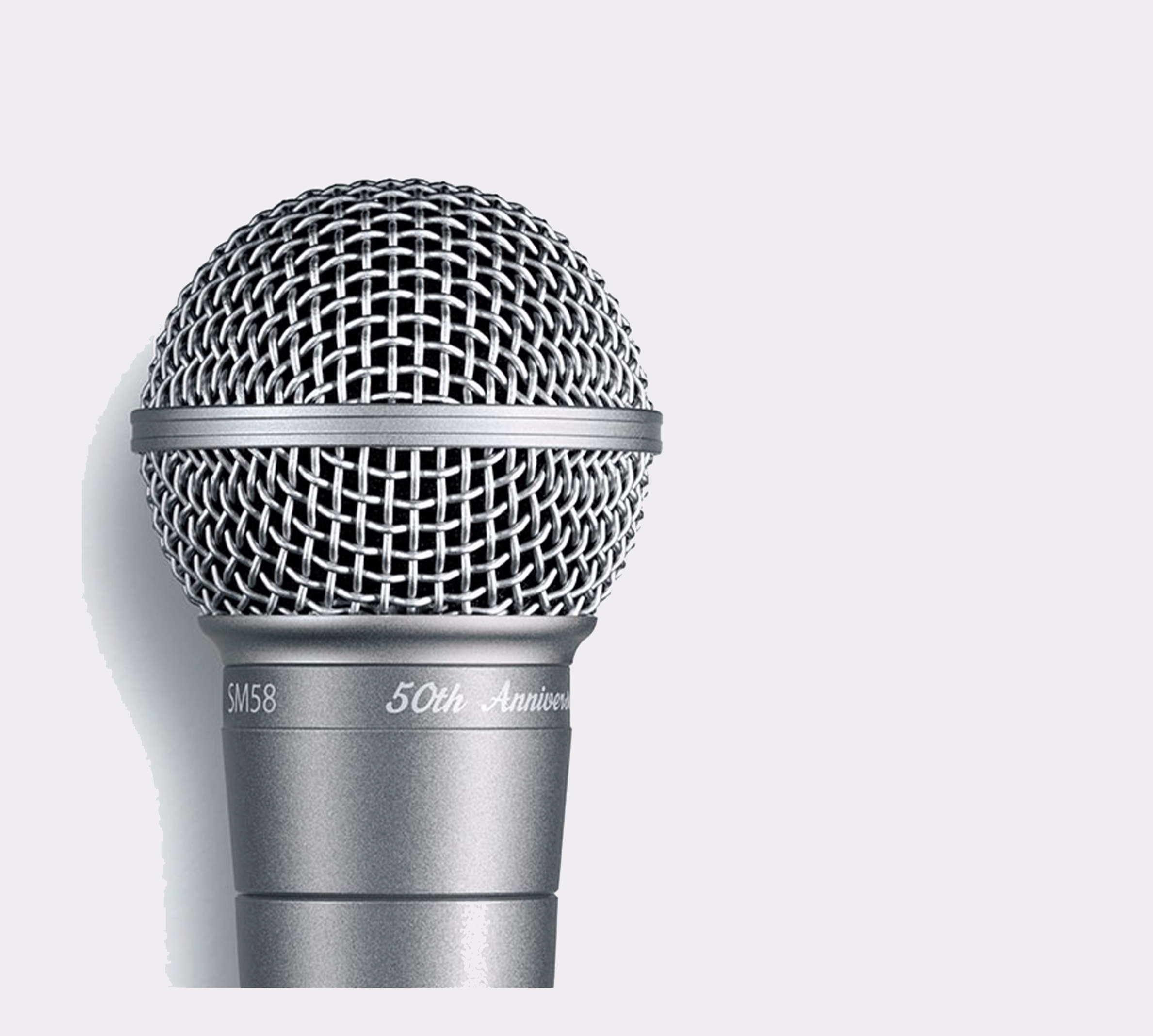 Shure SM58-50A Anniversary Edition Close Up